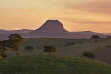 Sunset In The Noosa Hinterland Looking At Mt Cooroora, Queensland.
