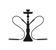 Hookah Logo. Isolated Hookah On White Background