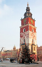 Gothic Town Hall Tower In Krak...