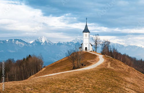 Beautiful shot of the St. Primus and Felician church located in Kranj, Slovenia
