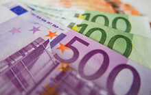 High Angle Shot Of Euro Bankno...