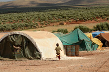 IDLIB, SYRIA - Jun 17, 2013: Internally Displaced Child Syrian Refugees