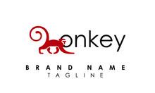Creative Monkey Logo Vector Design