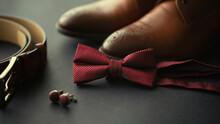 Close Up Of Male Wedding Groom...