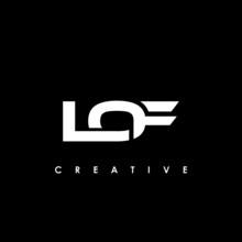 LOF Letter Initial Logo Design Template Vector Illustration