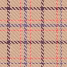 Plaid Tartan Checkered Seamles...