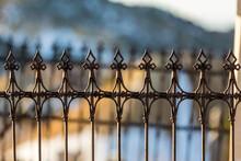 Spade Design Metal Fence Again...