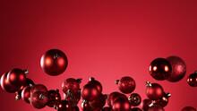 Flying Christmas Balls On Colo...