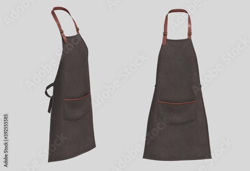 Foto Blank  aprons with leather straps, apron mockup, clean apron, design presentatio