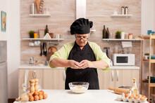 Cracking Eggs Into Wheat Flour...
