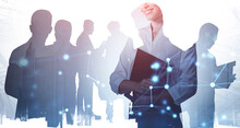 Business People In Abstract Ci...
