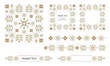 ラベル、飾り罫、タイトルなどに使える装飾用ベクターデータのデザインセット( Illustrator CC2019&JPEG)