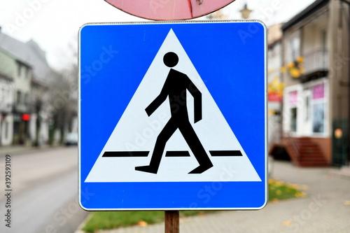 znak przejście dla pieszych - fototapety na wymiar