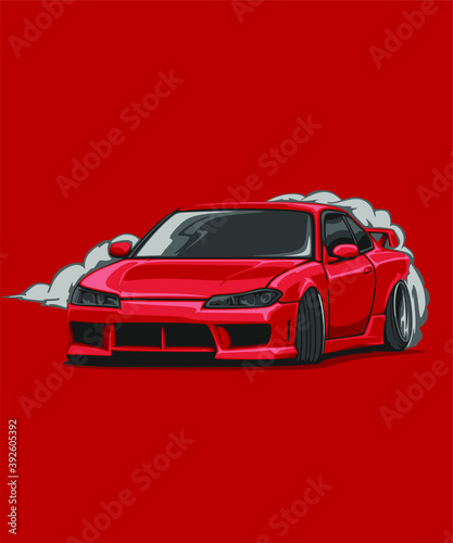 Illustrated detailed japanese cars jdm