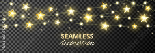 Foto Seamless decoration with golden stars