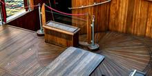 Old Sailship Wood Deck Balcony.