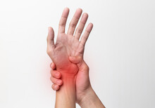 Hand Man Suffering From Pain I...