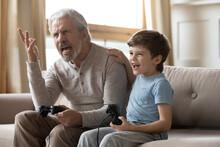 Irritated Mature Grandfather L...