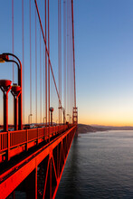 Golden Gate Bridge With Sunset