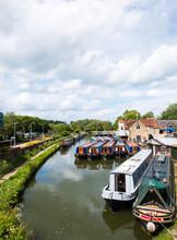 Moored Canal Boats At Heyford ...