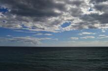 Mar Y Nubes Día Nublado
