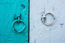 Ring Knockers On A Wood Door I...