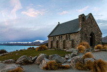 Church On The Shore Of Lake