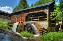 Old Saw Mill And Water Wheel Oharas Mill