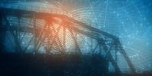 Railway Metal Bridge Side View...