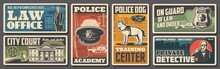 Police, Law And Justice Retro ...