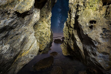 View From A Rock Grotto By The...