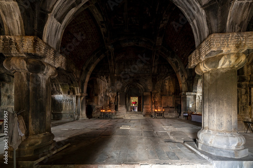 Interior of Haghpat Monastery, UNESCO World Heritage Site in Armenia, built between 10th and 13th centuries.