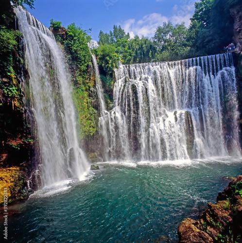 Waterfalls in Jajce, Bosnia-Herzegovina Wallpaper Mural