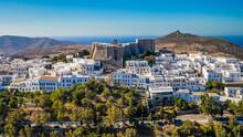 Sait John The Theologian Monastery In Patmos Island Greece