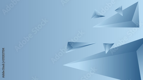 Abstract Triangle Background. 3D Triangles. Modern Wallpaper. illustration