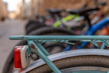 Detail Of An Old Green Bicycle...
