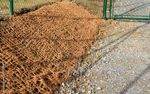 Obraz na plátně temporary gravel new dirt road