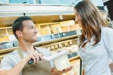 Shop Assistant Asking Customer...