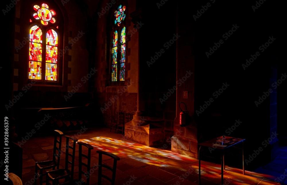 Fototapeta Église du Sacré Coeur, Douarnenez, GR34, Finistère, Bretagne, France