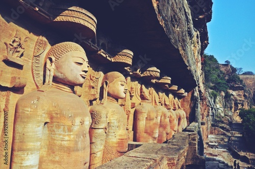 Gopachal parvat rock cut Jain monuments in gwalior,madhya pradesh