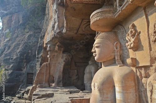 Papel de parede Gopachal parvat rock cut Jain monuments in gwalior,madhya pradesh