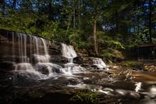 Dramatic Waterfall At Night