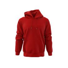 Blank Hooded Sweatshirt, Men's Hooded Jacket For Your Design Mockup For Print, Isolated On White Background, 3d Rendering, 3d Illustration
