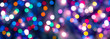 Abstract colorful shiny bokeh in Christmas night