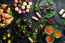 Set Of Sweets And Desserts For...