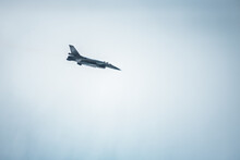 Fighting Jet F-16 In The Cloudy Sky