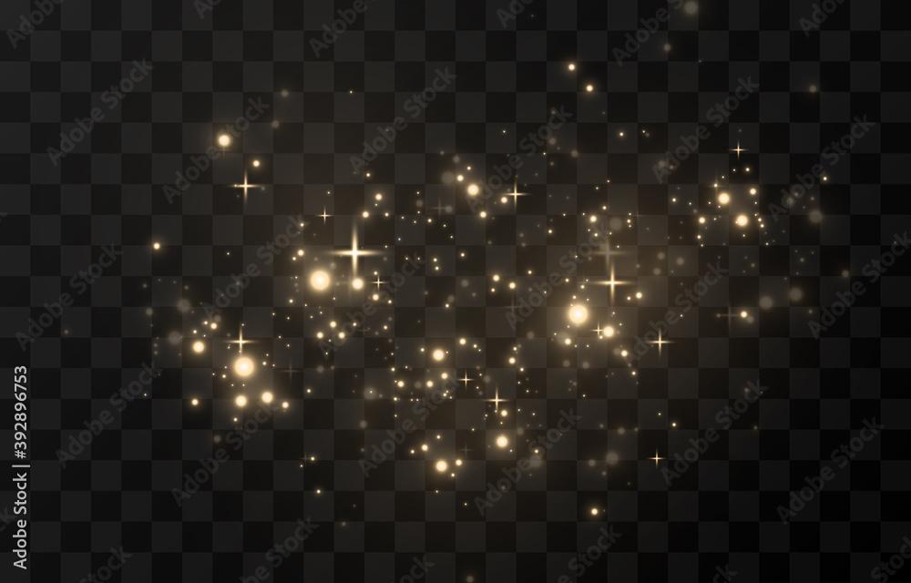 Fototapeta Vector magic glow. Sparkling light, sparkle sparkle Sparkling dust png. Sparkling magical dust. Christmas light.