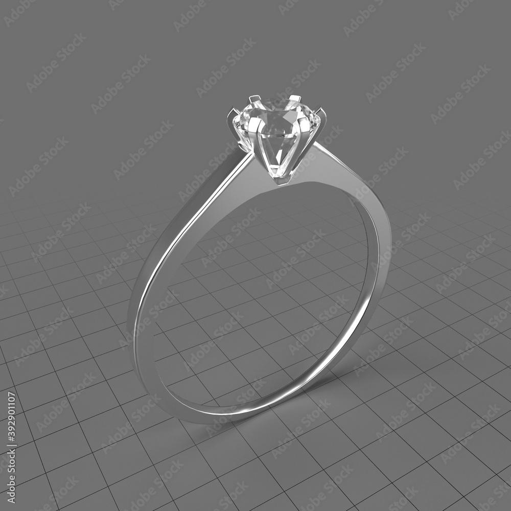 Fototapeta Diamond solitaire ring