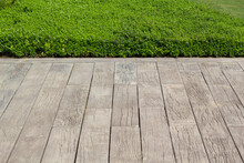 Grass And Wooden Floor