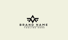 AV Logo Design Template Vector Graphic Branding Element.